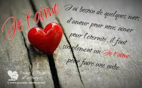 Mots d'amour pour dire je t'aime