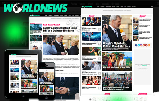 World News Magazine blogger template premium