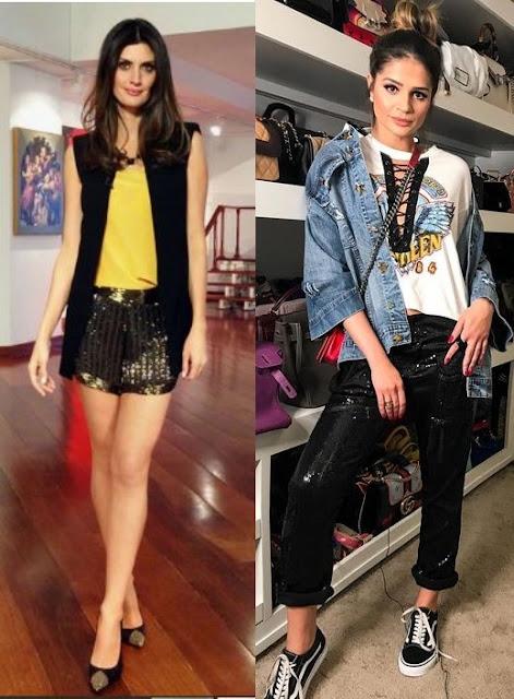Como usar brilho - Looks Inspiração, Isabela Fiorentino, Thássia Naves