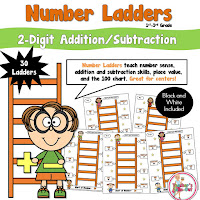 2 Digit Number Ladders