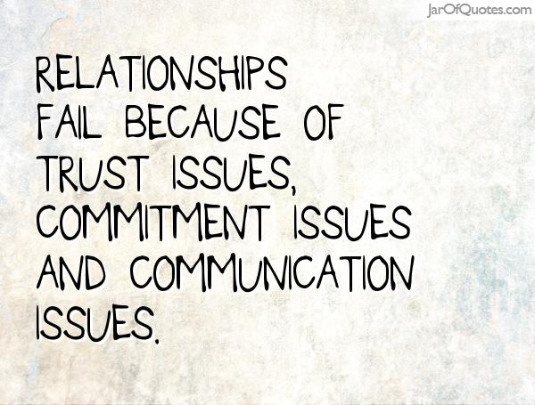 Relationship commitment issues