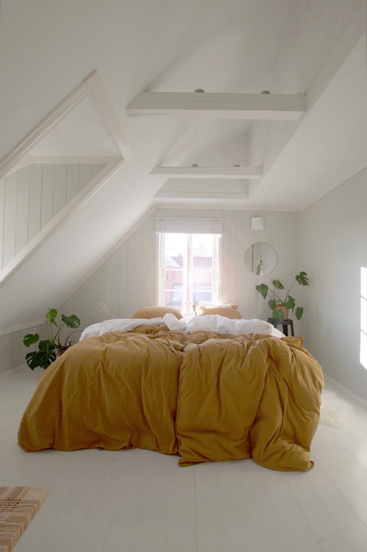 geel slaapkamer