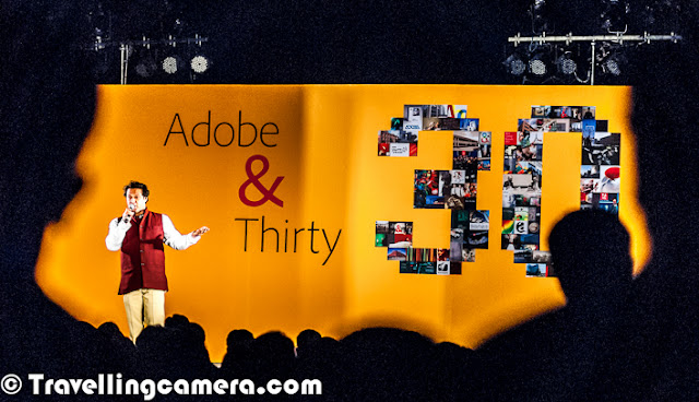 This year ADOBE Systems is celebrating it's 30th Anniversary as a Software Company. This Photo Journey shares some of the celebration moments from Noida campus in India. Let's check this Photo Journey and know more about this great journey with exceptional products like Photoshop, Acrobat, Illustrator etc'Creativity', 'Big data' and 'Changing the world through digital experiences' - That's how we know Adobe today !!! Adobe is proud to celebrate it's 30th Anniversary as a great software company. This great milestone is being celebrated in different Research & development offices across the world. Here we are sharing some of the moments from the evening at Noida with combination of Adobe veterans providing an insight into the last thirty years, recognizing Adobe CSR Champions for 2012 and a truly moving performance by 'Ability Unlimited'. Performers of Ability Unlimited were main attractions of the evening at Noida Office celebrations. We enjoyed various performances. Although I missed many of them. Most of these photographs are clicked during last part of the evening (for 15-20 mins). GURU SYED S PASHA in the middle with performers of Ability Unlimited Foundation !! Ability Unlimited Foundation is India's first professional dance theatre for persons with disabilities. This registered public charitable voluntary organization is dedicated to the cause and care of people with disabilities. AUF utilizes art as a vehicle to broaden the perspective and resolve issues including facing people with disabilities. It is committed to changing the apathy, negativity and fear that surrounds the education, employment and arts through the specially designed professional dance-theatre performances and innovative methodology as 'seeing is believing.' It gives the message of equality, dignity, equal opportunities and full participation of disabled people so that they can be on the same platform as the non-disabled. Our mission is to help the differently-abled all around the world realize their potential and to spread the joy of dance and theaterAbility Unlimited Foundation artistes performed at House of Commons at London, Cananda, USA and many parts of India. The moving speed of AUF artistes on wheel chairs are 150 Kms/hr and spinning speed of Wheel chairs are faster than Ballets Dancers spins. When they perform on stage they bring out indomitable spirit. They perform with great perfection and with the message 'They don't need mercy… They need Opportunity' In Indian Sign Language, waiving hands is sign for clapping. Since there were some deaf performers in the group of Ability Unlimited Foundation, it was necessary to train the audience about the way to applaud the performers.Adobe was founded in December 1982 by John Warnock and Charles Geschke, who established the company after leaving Xerox PARC in order to develop and sell the PostScript page description language. In 1985, Apple Computer licensed PostScript for use in its LaserWriter printers, which helped spark the desktop publishing revolution. The company name Adobe comes from Adobe Creek in Los Altos, California, which ran behind the houses of both of the company's founders. Adobe acquired its former competitor, Macromedia, in December 2005, which added newer software products and platforms such as ColdFusion, Dreamweaver, Flash and Flex to its product portfolio. For more, check out - http://en.wikipedia.org/wiki/Adobe_SystemCelebrations at Noida started with quick welcome of all employees and then quick speech by Adobe India veterans, who shared some inspiring facts about Adobe Systems and India Campus. Then some of the CSR volunteers were awarded to recognize their efforts in different areas. Adobe CSR is one of the biggest program in our country and Adobe as a company is focused about it's social responsibilities. After the quick round of award distributions Ability Unlimited started performing and they presented different flavors of performances. During the end, a great fireowork show and some snacks :GURU SYED S PASHA on stage telling about Ability unlimited Foundation and starting the performances on different themes.Vande Mataram Perfromance by Ability Unlimited Kids at Adobe Systems India (Noida Campus).