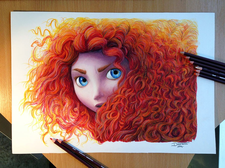Dibujos Bonitos De Colores: VOTRE ART: Colored Drawings By Young Artist Dino Tomic