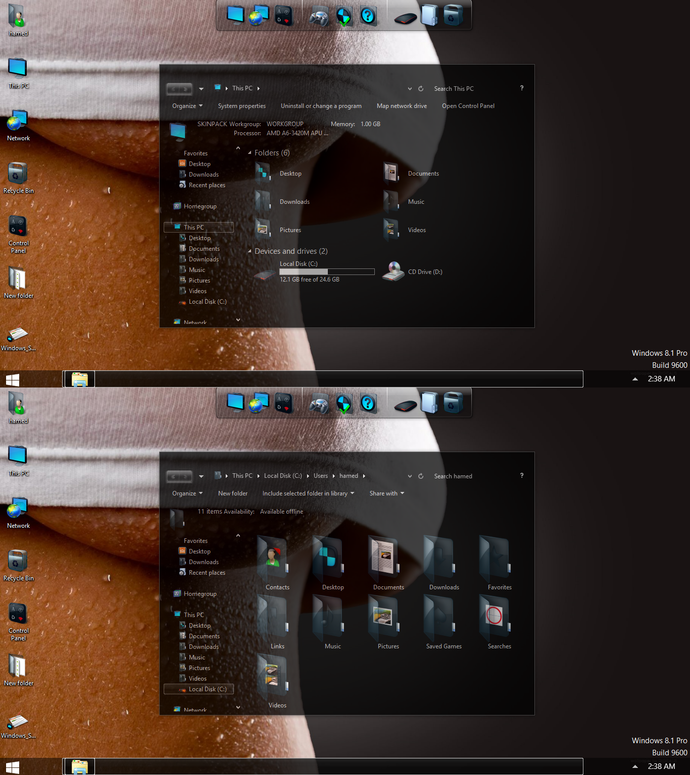 Transform windows 7 to windows 8 win 8 skin pack youtube.