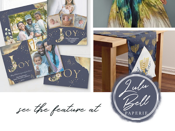 Navy Blue Gold & Green Christmas Color Palette - Inspiration Photo Cards and Free Gift Tag Sheet