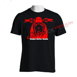 Sablon Kaos Hitam - T-shirt Motif Scoopy | Tanjungbalai