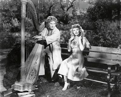 "Harpo Marx and Vera Ellen in ""Love Crazy"" (1949)"