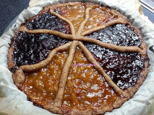 Crostata bicolor - Two colours crostata