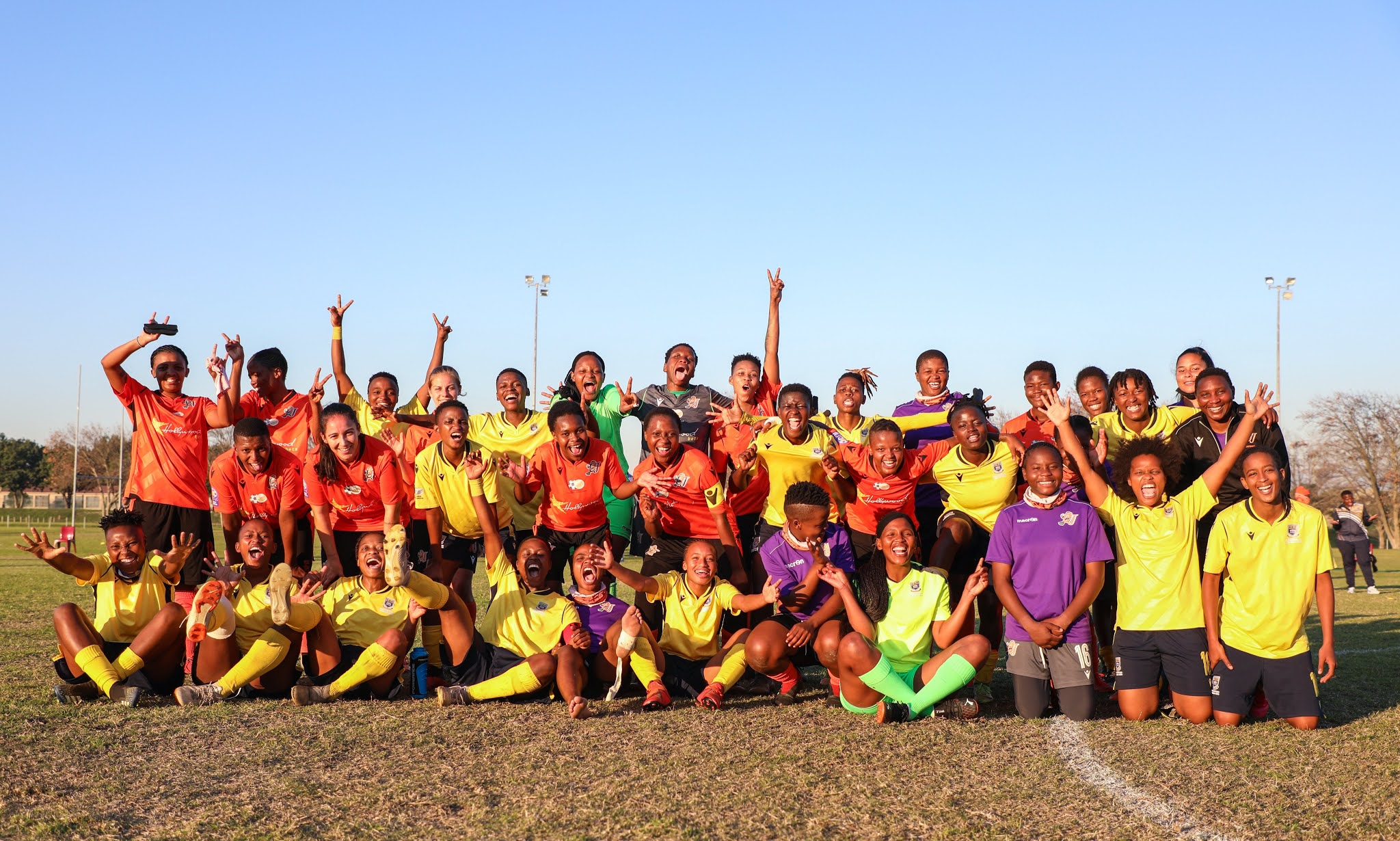 UWC Ladies and University of JHB Ladies displaying excellent sportsmanship after last week's intense encounter