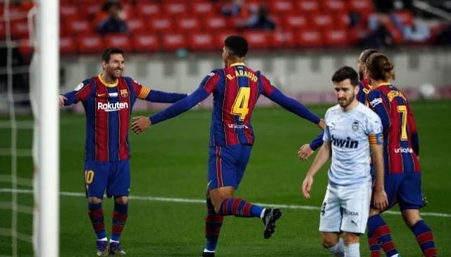 التعادل الإيجابي يحسم لقاء برشلونة ضد فالنسيا
