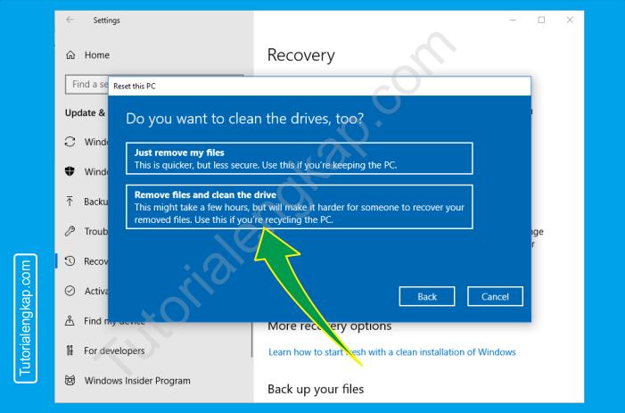 7 tutorialengkap Cara reset windows 10 untuk mengembalikan ke pengaturan default