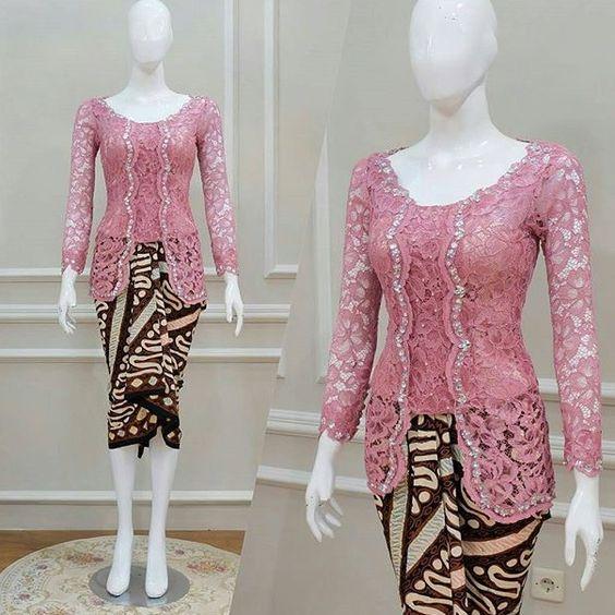 Desain Baju Batik Kombinasi Brokat: 25 Model Baju Batik Kombinasi Brokat Terbaru 2018-2019