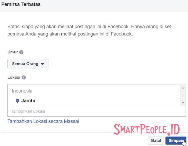 Cara Mengaktifkan Privasi Postingan Fanpage
