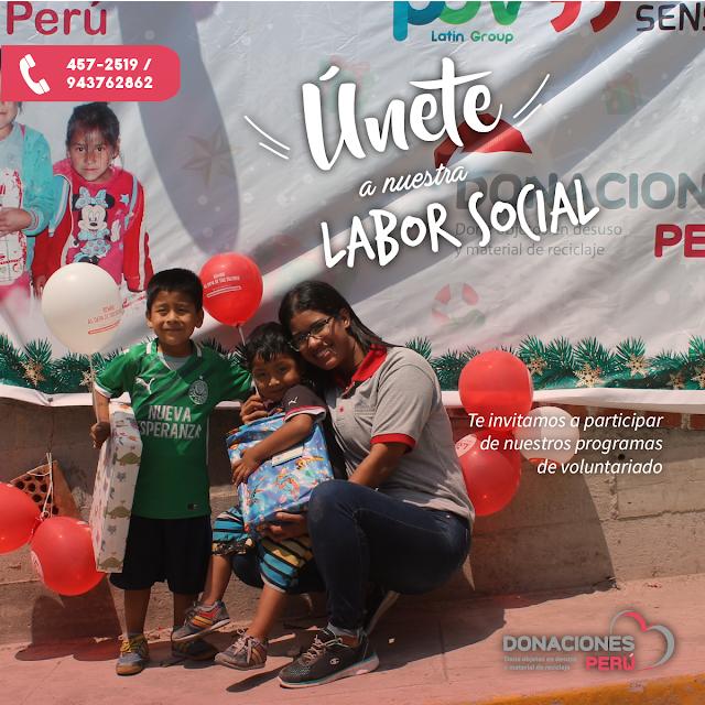 Voluntariado - Donaciones Perú - Dona