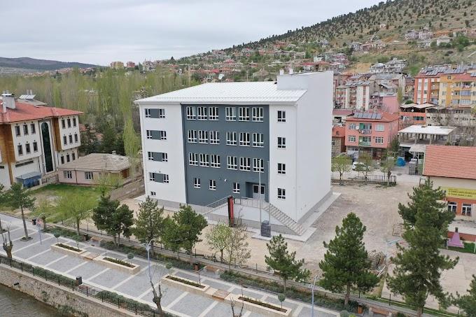 8 Derslikli okulun yapımı tamamlandı