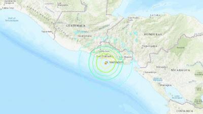 Gempa Berkekuatan 6,6 Melanda Pantai El Salvador