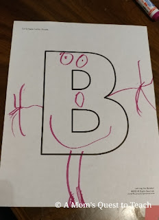 A Baker on the letter B