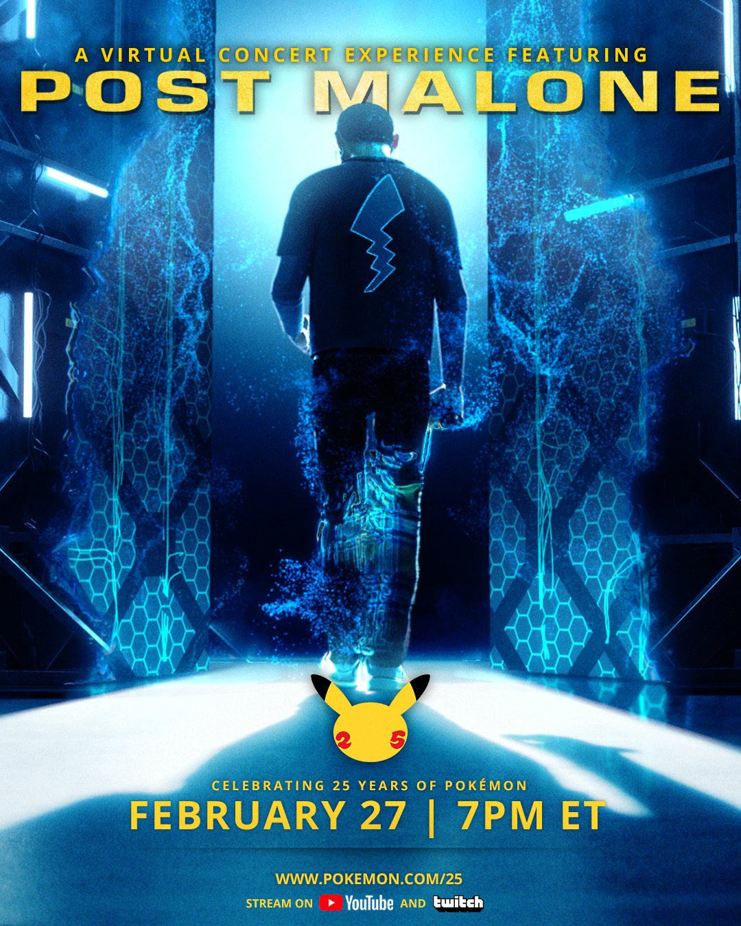 POKÉMON UNVEILS VIRTUAL MUSIC CONCERT WITH POST MALONE TO CELEBRATE 25TH ANNIVERSARY
