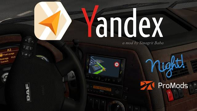 sinagrit baba ets 2 mods, ets 2 yandex navigator night version for promods
