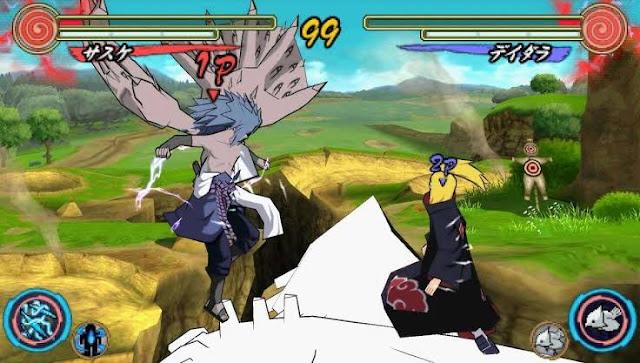 Game ppsspp terbaik untuk pertempuran yaitu game naruto ultimate ninja