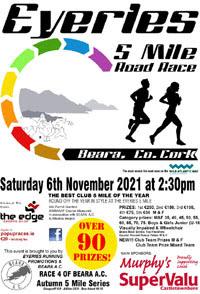 Popular 5m race in scenic West Cork - Sat 6th Nov 2021
