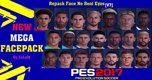 PES 2017 New Look Facepack V7 Season 2021