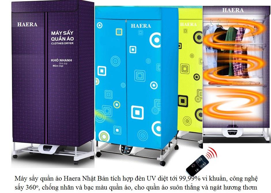 Hình ảnh minh họa máy sấy quần áo Haera HD-882FUV Nhật Bản