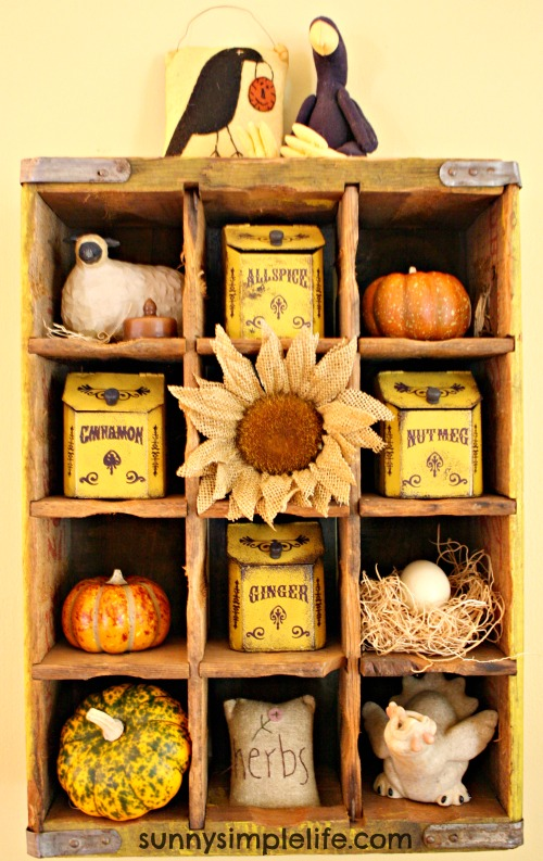 Coke crate decorating, farmhouse