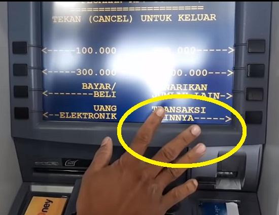 Langkah Kedua Ambil Uang Via ATM Mandiri