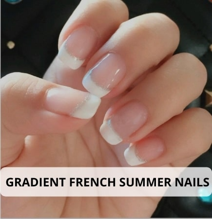 Gradient French Summer nails Tips