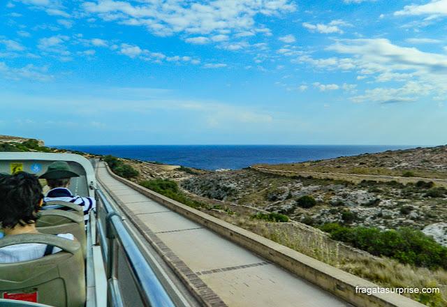 ônibus hop on-hop off em Malta