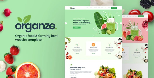 Organic Food & Farming HTML Template