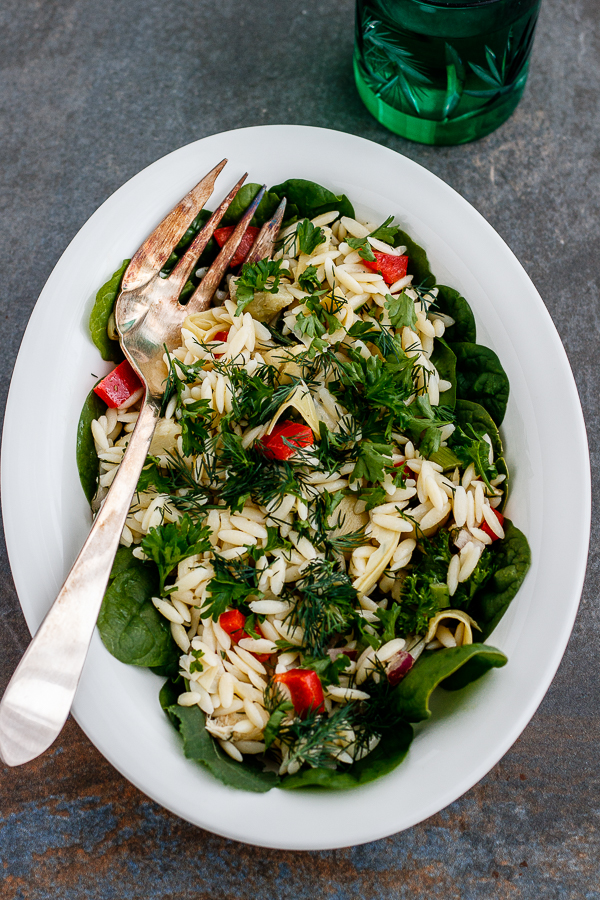 Orzo Salad with Herbs
