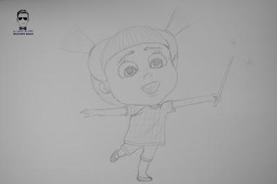 تعليم رسم فتاة صغيرة