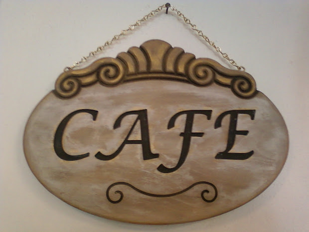 Red Rock Rose In . Distressed Cafe Signs