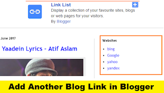 How to Add Another Blog Link in Blogger with Pictures