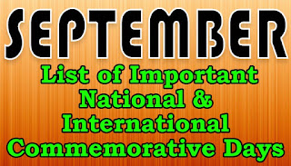 "September Month Birth Anniversaries , Death Anniversaries , Iincidents  in History amd January important dates and Reasons September is the ninth month of the year in the modern day Gregorian calendar and its predecessor, the Julian calendar. The month kept its original name from the Roman calendar in which septem means ""seven"" in Latin marking it as the seventh month.  September was named during a time when the calendar year began with March, which is why its name no longer corresponds with its placement in the Julian and Gregorian calendars.    India is a land of festival. People live with unity. Every day is celebrated here. Do you know about the events (National or International) that falls in September 2019? Let us find out through this article."