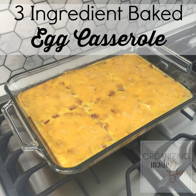 3 Ingredient Baked Egg Casserole