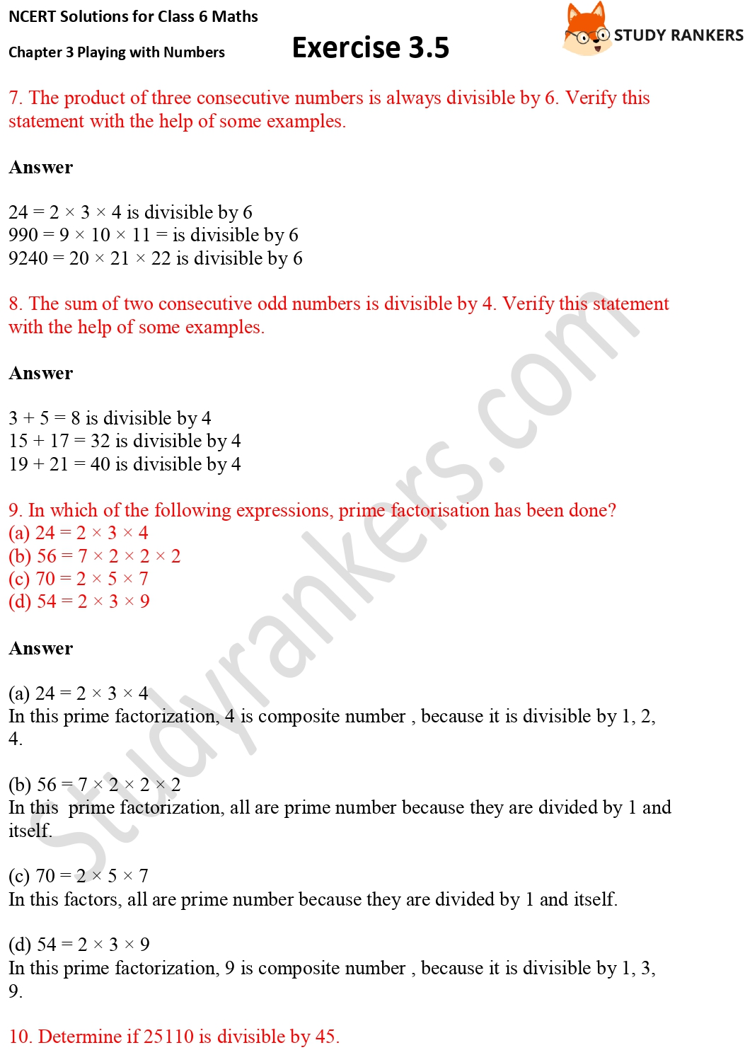 NCERT Solutions for Class 6 Maths Chapter 3 Playing with Numbers Exercise 3.5 Part 3