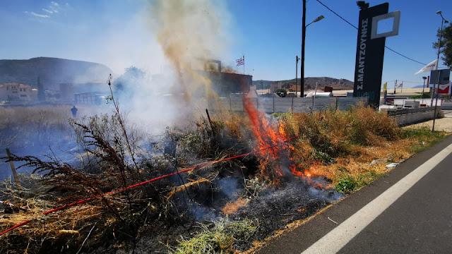 Πυρκαγιά στο Ναύπλιο (βίντεο)