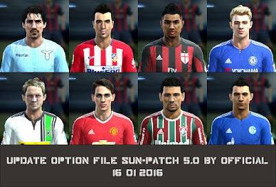 PES 2013 Update Option File SUN-Patch 5.0 #16/01/2016 by Official
