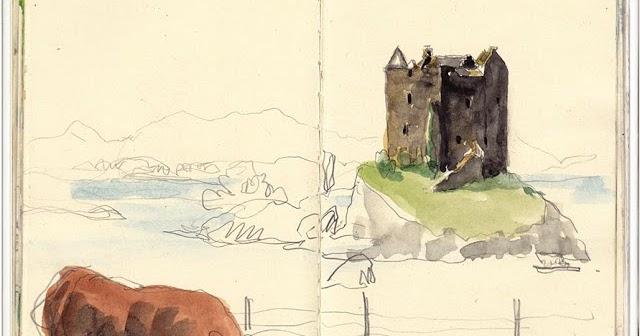 In A Few Strokes Stalke Castle Urban Sketchers