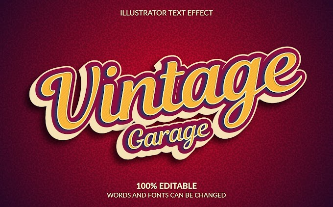 Vintage Garage Text Effect