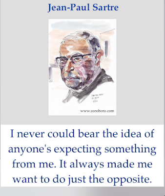 Jean-Paul Sartre Quotes. Existentialism Quotes, Choices & Life Quotes. Jean-Paul Sartre Philosophy. Inspirational quotes, Status, photos. one line words