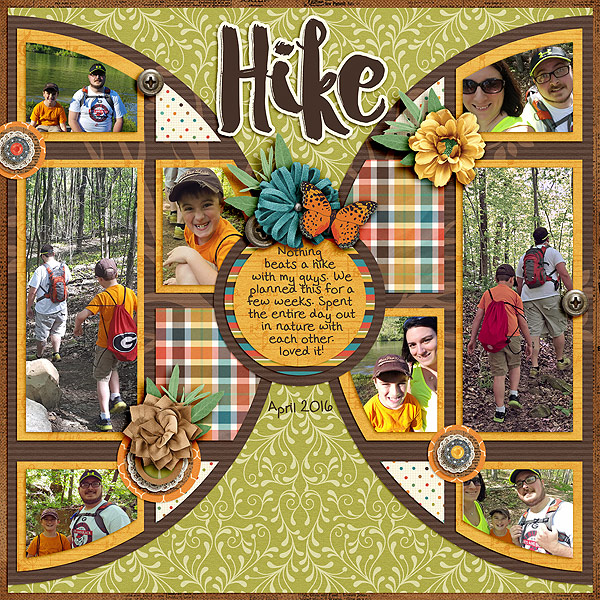 Scrapping your Hiking Photos - Digital Scrapbooking