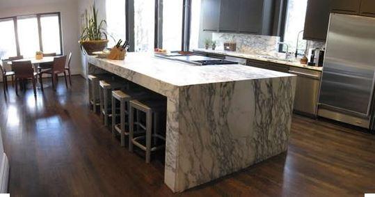 mesa de cocina de mrmol estatuario monoltico adems realizamos portones barandas piezas en general en acero inoxidable desde dimensiones pequeas hasta - Marmol Cocina