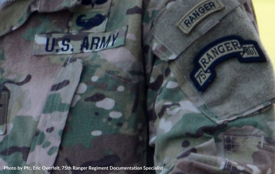 Photo of army soldier in uniform with 75th ranger regiment tab for blog post about RASP training
