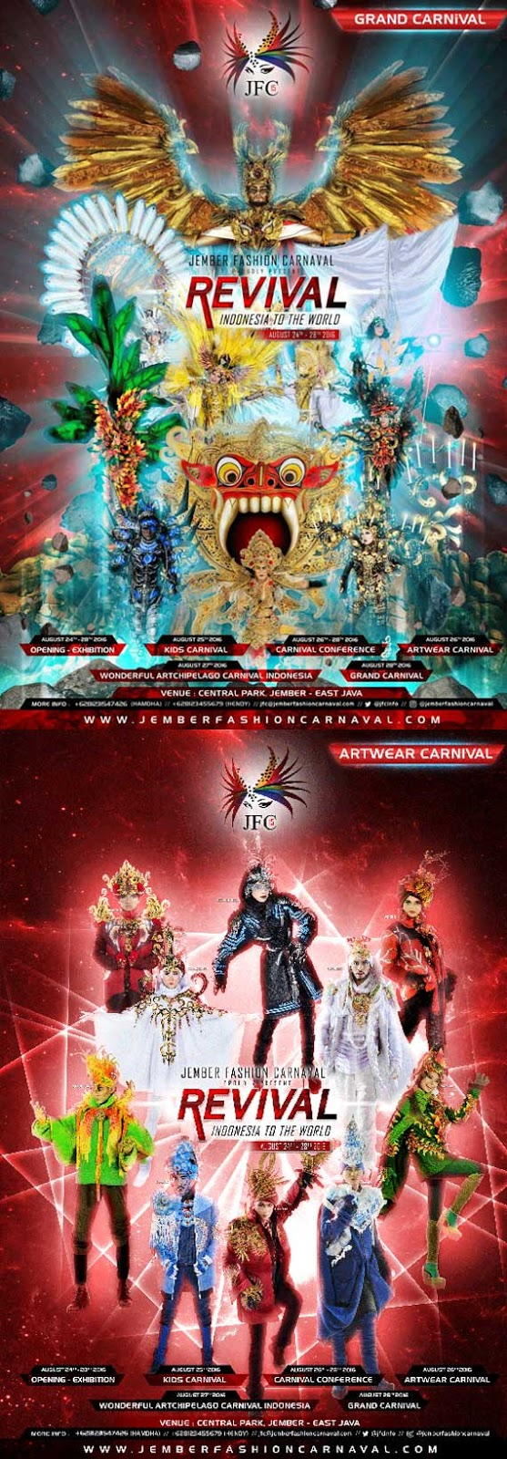 Poster Jember Fashion Carnival REVIVIAL 2016