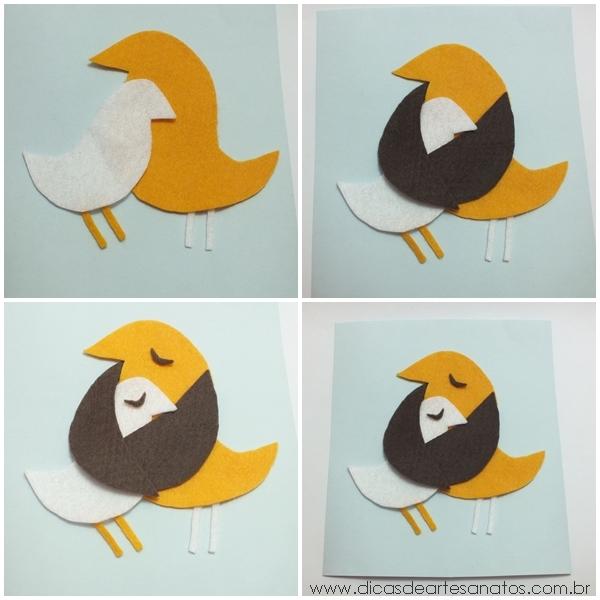 eu amo artesanato cartão de feltro para o dia das mães